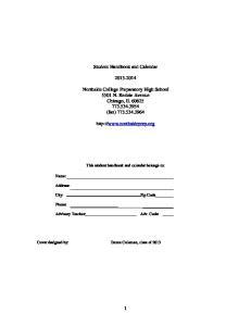 Student Handbook and Calendar