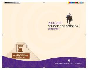 student handbook. and planner