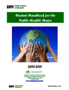 Student Handbook for the Public Health Major