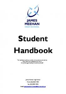 Student Handbook. James Meehan High School Phone (02) Fax: (02)