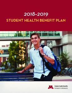 STUDENT HEALTH BENEFIT PLAN