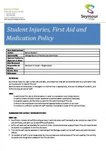 Student Injuries, First Aid and Medication Policy