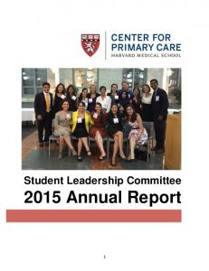 Student Leadership Committee 2015 Annual Report