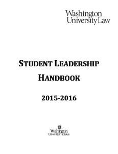 STUDENT LEADERSHIP HANDBOOK