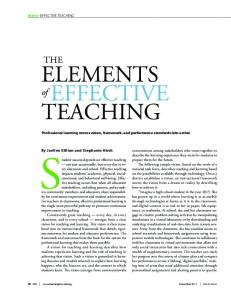 Student success depends on effective teaching