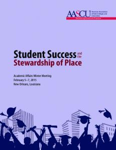 Student Success Stewardship of Place