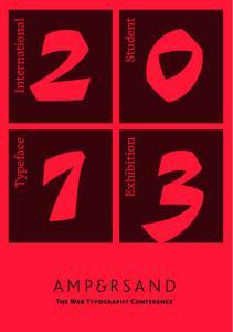 Student. Typeface. Exhibition