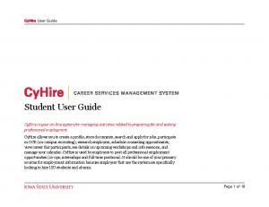 Student User Guide. CyHire User Guide