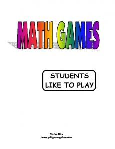 STUDENTS LIKE TO PLAY