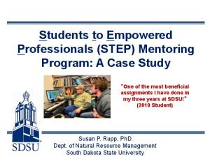 Students to Empowered Professionals (STEP) Mentoring Program: A Case Study
