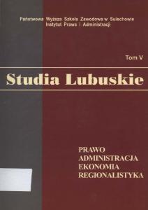 STUDIA LUBUSKIE TOM 5