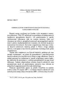 Studia z prawa wyznaniowego Tom katolickiego w Polsce
