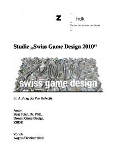 Studie Swiss Game Design 2010