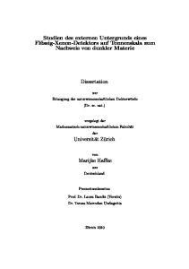Studien des externen Untergrunds eines Flüssig-Xenon-Detektors auf Tonnenskala zum Nachweis von dunkler Materie. Dissertation