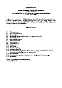 Studienordnung. Inhaltsverzeichnis