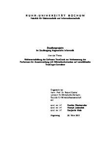 Studienprojekt im Studiengang Angewandte Informatik