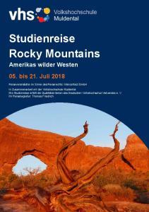 Studienreise Rocky Mountains