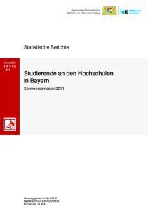 Studierende an den Hochschulen in Bayern
