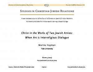 Studies in Christian-Jewish Relations