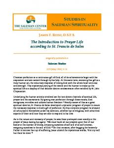 STUDIES IN SALESIAN SPIRITUALITY