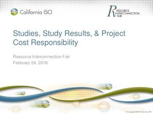 Studies, Study Results, & Project Cost Responsibility