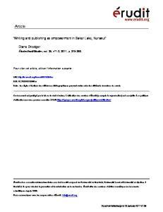 Studies, vol. 35, n 1-2, 2011, p