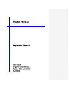 Studio Physics. Engineering Physics I