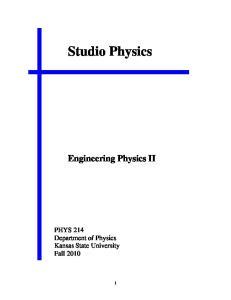 Studio Physics. Engineering Physics II