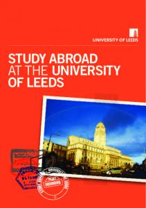 STUDY ABROAD AT THE UNIVERSITY OF LEEDS