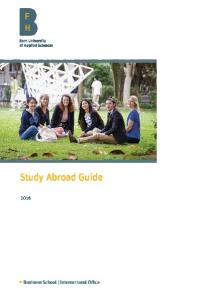 Study Abroad Guide. Business School International Office