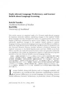 Study-abroad, Language Proficiency, and Learner Beliefs about Language Learning