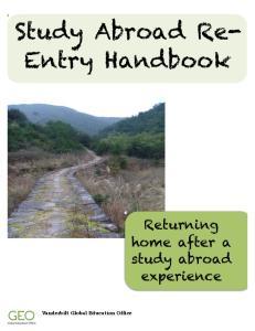 Study Abroad Re- Entry Handbook