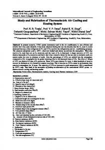 Study and Fabrication of Thermoelectric Air Cooling and Heating System