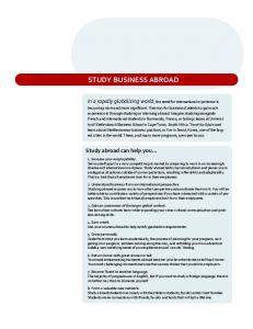 STUDY BUSINESS ABROAD