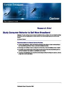 Study Consumer Behavior to Sell More Broadband
