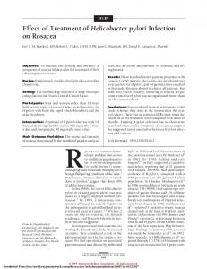 STUDY. Effect of Treatment of Helicobacter pylori Infection on Rosacea