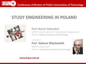 STUDY ENGINEERING IN POLAND