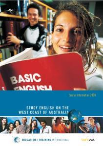 STUDY ENGLISH ON THE WEST COAST OF AUSTRALIA