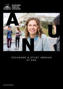 study EXCHANGE & STUDY ABROAD AT ANU