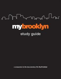 study guide a companion to the documentary film My Brooklyn