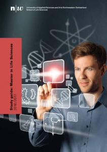 Study guide: Master in Life Sciences