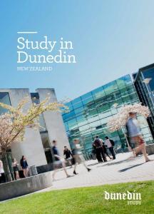 Study in Dunedin. Study