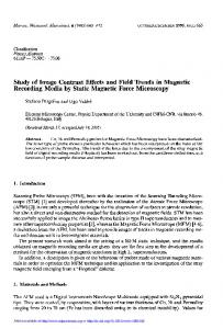 Study of Image Contrast Effects and Field Trends in Magnetic Recording Media by Static Magnetic Force Microscopy