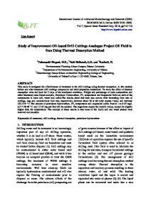 Study of Improvement Oil-based Drill Cuttings Azadegan Project Oil Field in Iran Using Thermal Desorption Method