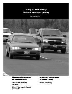 Study of Mandatory 24-Hour Vehicle Lighting