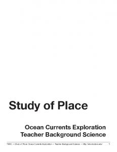 Study of Place Ocean Currents Exploration Teacher Background Science
