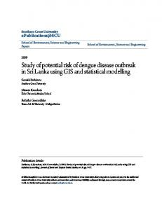 Study of potential risk of dengue disease outbreak in Sri Lanka using GIS and statistical modelling