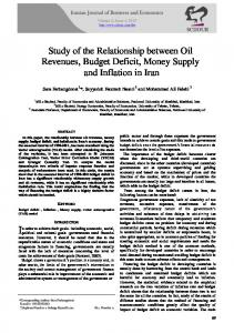 Study of the Relationship between Oil Revenues, Budget Deficit, Money Supply and Inflation in Iran