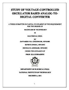 STUDY OF VOLTAGE-CONTROLLED OSCILLATOR BASED ANALOG-TO- DIGITAL CONVERTER