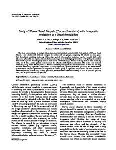 Study of Warme Shoab Muzmin (Chronic Bronchitis) with therapeutic evaluation of a Unani formulation
